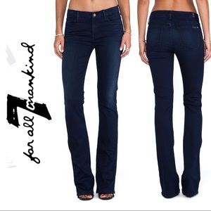 7 For All Mankind Skinny Bootcut Blue Jeans
